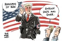 Nach Äußerungen zu Charlottesville: Empörung nach Trumps Schlingerkurs