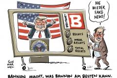 Nach Bannons Abgang im Weißen Haus: Trump lobt Bannon und wirbt für Breitbart