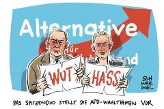 Gauland und Weidel präsentieren AfD-Wahlprogramm: Zuwanderung und Asylpolitik sind wichtigste Themen der AfD