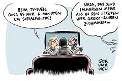 TV-Duell zur btw17: Zu wenig Sozialpolitik