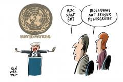 Unidet Nations: Trump stellt sich der Welt vor