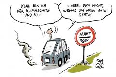 Umweltbundesamt: Für alle Kraftfahrzeuge Maut auf allen Straßen