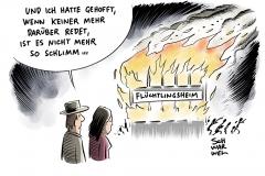 Fremdenfeindlichkeit: Weiterhin viele Anschläge auf Flüchtlingsunterkünfte
