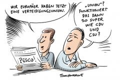 PESCO: Europäer gründen Verteidigungsbündnis