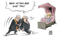 Bundespräsident nach Jamaika-Aus: Steinmeier trifft Parteichefs - SPD setzt auf Neuwahlen