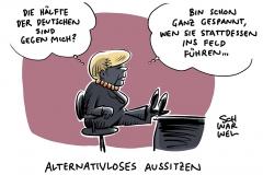 Unzufriedenheit: Jeder zweite Deutsche für vorzeitigen Abgang Merkels