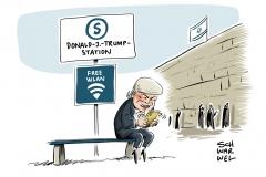 Nahe der Klagemauer: Israel will Haltestelle nach Trump benennen