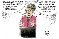 Möglicher Militärschlag der USA: Merkel lehnt deutschen Syrien-Einsatz ab