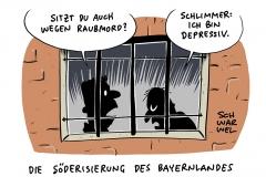Umstrittener Gesetzentwurf zu PsychKG: Bayern will psychisch Kranke wie Straftäter behandeln