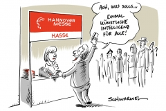 Künstliche Intelligenz auf Hannover Messe: Kanzlerin entwirft Plan, wie Deutschland kommender KI-Weltmacht China begegnen kann