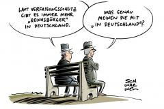 """Verfassungschutzbericht 2017: Immer mehr """"Reichsbürger"""""""