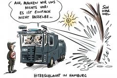 Hamburger Polizei wässert Stadtpark mit Wasserwerfern: Bundesweite Einsätze gegen Trockenheit