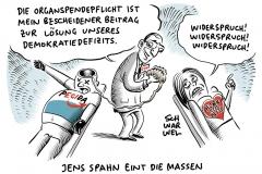 Organspende-Vorstoß von Jens Spahn: Jeder, der nicht widerspricht, soll automatisch Spender werden, Rechtsextremismus: Mehrheit der Deutschen in Sorge um Demokratie
