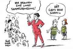 """Wagenknechts Sammlungsbewegung """"Aufstehen"""": Lafontaine meldet 36.000 Anmeldungen, Grüne vor SPD: Forsa-Chef prognostiziert neue Rangordnung der Parteien"""