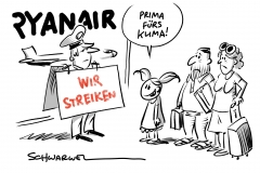 Tarifkonflikt: Streik bei Ryanair trifft 55.000 Passagiere + Klima, Klimawandel
