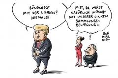 Absage an mögliche Bündnisse: Merkel gegen Regierung mit Die Linke