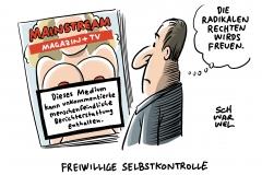 Medien und die Neue Rechte: Völkische und rechte Positionen gehören niemals unkommentiert in die Medien
