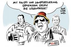 Pegida Dresden Sachsen LKA ZDF frontal21
