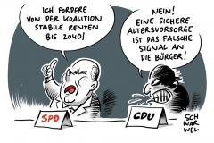 Kritik aus der Union: Scholz will sichere Rente bis 2040