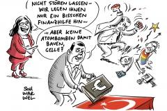 Währungskrise in Türkei: Nahles bringt deutsche Hilfe ins Gespräch, Gabriel warnt vor Atombombenbau