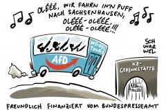 Antisemitismus und Revisionismus in Sachsenhausen: Alice Weidels AfD-Besuchergruppe hetzt in KZ-Gedenkstätte