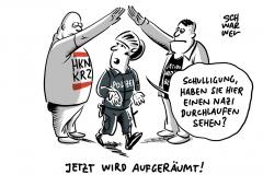 Vom Dienst suspendiert: Polizisten in Rosenheim sollen Hitlergruß gezeigt haben