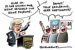 """Sachsens Ministerpräsident Kretschmer zu Chemnitz: """"Klar ist: Es gab keinen Mob, es gab keine Hetzjagd und es gab keine Pogrome in dieser Stadt"""""""