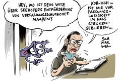 Maaßen und kein Ende: SPD attackiert Seehofer wegen Ablösung von SPD-Staatssekretär Adler