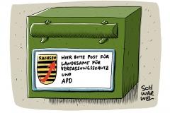 Landesamt Sachsen: AfD-Funktionär arbeitet bei Verfassungsschutz