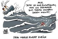 Große Koalition: SPD-Chefin Nahles will Maaßen-Deal neu verhandeln