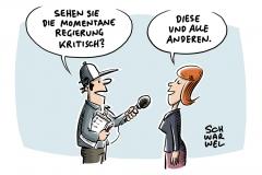 Neue Forsa-Umfrage zur Regierungsfähigkeit: Fast 80 Prozent der Deutschen sehen Regierung kritisch