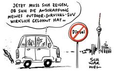 ustiz macht, was Politik regeln müsste: Verwaltungsgericht verhängt Diesel-Fahrverbote in Berlin