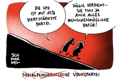 Kurz vor der Bayern-Wahl: SPD im Bund erstmals nur viertstärkste Partei