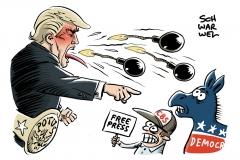 Paketbomben in USA an CBS und Demokraten: Bomben verschickten andere, Sprengstoff liefert Trump