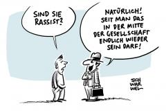 Leipziger Autoritarismus-Studie: Rassismus auch in der Mitte