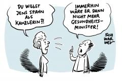 Künftiger CDU-Vorsitz: Kramp-Karrenbauer mit knappem Vorsprung vor Merz