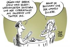Nach Hackerangriff und Shitstorm: Grünen-Chef Robert Habeck schaltet Accounts bei Twitter und Facebook ab