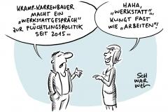 Kramp-Karrenbauer: CDU-Generalaussprache zur Flüchtlingspolitik seit 2015