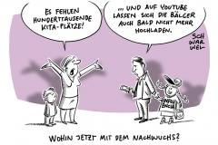 Kita-Krise: In Deutschland fehlen Hunderttausende Plätze, Nach Verabschiedung der EU-Urheberrechtsreform: Weitere Debatten um befürchtete Uploadfilter