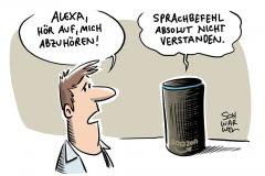 Amazon-Sprachsoftware und Persönlichkeitsrechte: Verbraucherschutzministerin fordert Abhörstopp über Alexa