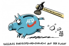 Illegale Parteispenden: AfD muss mehr als 400.000 Euro Strafe zahlen