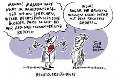 Brinkhaus erteilt Verbot: Maaßen darf nicht im Fraktionsaal auftreten, Ärger in AfD-Fraktion: Rechtspopulisten laden rechtspopulistischen Blogger aus