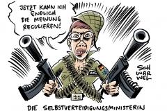 """Neue Verteidigungsministerin Kramp-Karrenbauer: Wohl der Soldaten als """"höchste Priorität"""""""