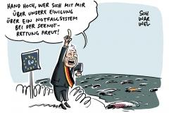 Flüchtlingspolitik: Staaten einigen sich auf Notfallsystem für Seenotrettung