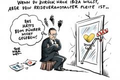 Straches tiefer Fall: FPÖ fällt mit, Nach Insolvenz: Thomas Cook will mithilfe von Neckermann weitermachen