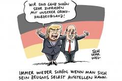 Groko Halbzeit Merkel Olaf Scholz