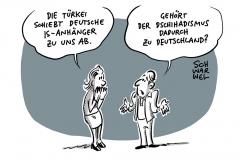 """""""Islamischer Staat"""": Türkei schiebt deutsche IS-Mitglieder ab"""