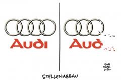 Vereinbarung mit Betriebsrat: Audi streicht Tausende Stellen in Deutschland