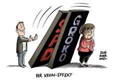 Zukunft der Großen Koalition nach SPD-Vorsitz-Entscheid: Union lehnt GroKo-Nachverhandlungen ab
