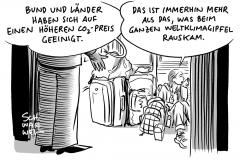 Klima-Vermittlungsausschuss von Bund und Ländern: Einigung im Klima-Streit – CO2-Preis steigt, Greta Thunberg fährt im überfüllten ICE nach Hause